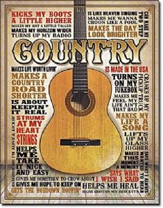 Country Music Large Metal Sign 400mm x 300mm (de)